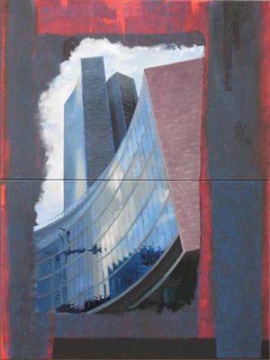 Milano, Palazzo della Regione 2, Technique mixte, Diptyque 2x 120 x 80 cm