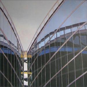 Milano, Palazzo della Regione 5, Huile sur toile, 100 x 100 cm