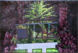 Montreux Clinique la Prairie 2, Huile sur toile, 40 x 60 cm