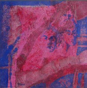 Reflets Poétiques No 1, Acrilic sur toile, 50 x 50 cm