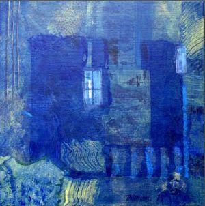 Reflets Poétiques No 2, Acrilic sur toile, 40 x 40 cm