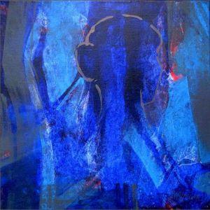 Reflets Poétiques No 3, Acrilic sur toile, 40 x 40 cm