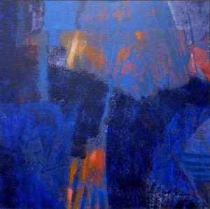 Reflets Poétiques No 4, Acrilic sur toile, 40 x 40 cm