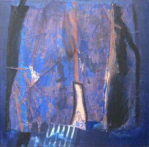 Reflets Poétiques No 6, Acrilic sur toile, 40 x 40 cm