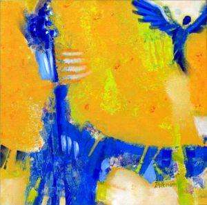 Reflets Poétiques No 11, Acrilic sur toile, 40 x 40 cm