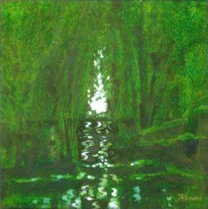 Reflets Poétiques No 12, Acrilic sur toile, 40 x 40 cm