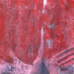 Reflets Poétiques No 13, Acrilic sur toile, 40 x 40 cm