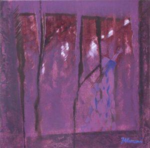 Reflets Poétiques No 15, Acrilic sur toile, 40 x 40 cm