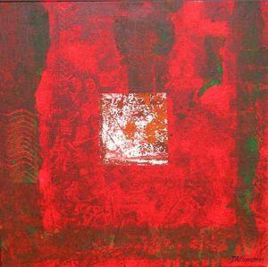 Reflets Poétiques No 16, Acrilic sur toile, 40 x 40 cm