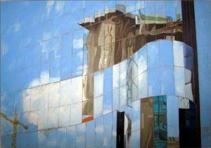Grutopia 1, Paris Défense, huile sur toile, 70 x 100 cm
