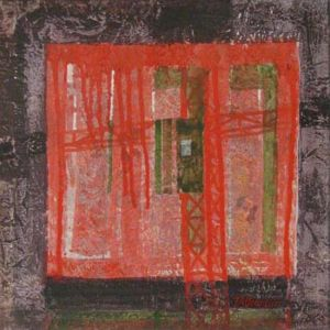 Grutopia 9, Acryl sur papier marouflé sur toile, 40 x 40 cm