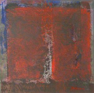 Grutopia 10, Acryl sur papier marouflé sur toile, 40 x 40 cm