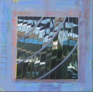 Grutopia 12, Milano Palazzo della Regione 1, Technique mixte sur toile, 80 x 80 cm