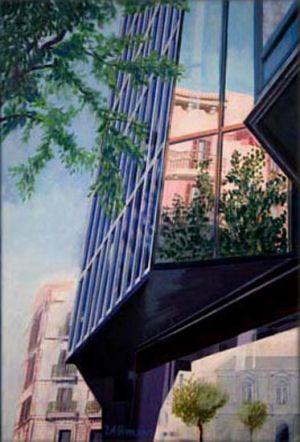 Barcelona - La Ramblà, Huile sur toile, 40 x 60 cm