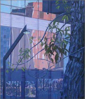 Barcelona - Via Diagonal 1, Huile sur toile, 60 x 70 cm
