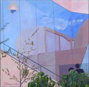 Barcelona - Musée Mirò, Huile sur toile, 120 x 120 cm