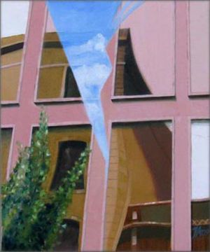 Barcelona - Via Diagonal 3, Huile sur toile, 50 x 60 cm