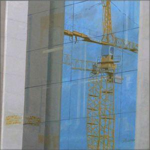 Barcelona - Grutopia 1, Huile sur toile, 120 x 120 cm