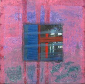 Barcelona - Tour Agbar 2 (détail), Huile sur toile, 80 x 80 cm