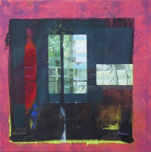 Barcelona - Tour Agbar 1 (détail), Huile sur toile, 80 x 80 cm