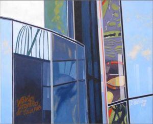 Paris - La Défense 1, Huile sur toile, 100 x 80 cm