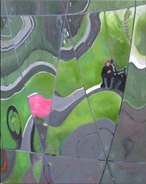 Paris - La Géode 1, Huile sur toile, 120 x 150 cm