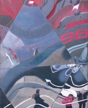 Paris - La Géode 2, Huile sur toile, 120 x 150 cm