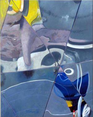 Paris - La Géode 3, Huile sur toile, 120 x 150 cm
