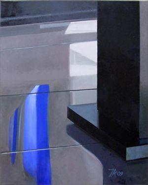 Paris - La Villette 2, Huile sur toile, 80 x 100 cm