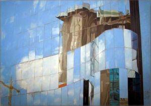 Paris - La Défense 2, Huile sur toile, 100 x 70 cm
