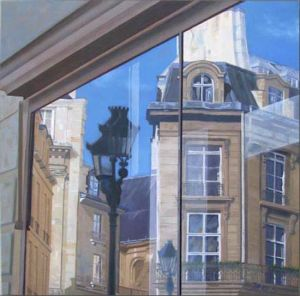 Paris 9è, Huile sur toile, 80 x 80 cm