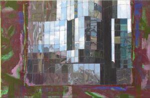 Paris, La Défense 3, Technique mixte sur toile, 120 x 80 cm
