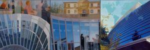 Lausanne, IMD International School, Huile sur toile, Triptyque 100 x 300 cm